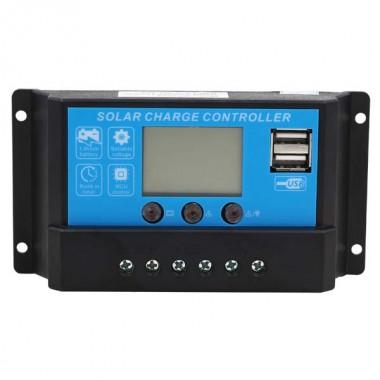 Контролер JUTA DY1024, 10А 12В / 24В з дисплеєм + USB гніздо