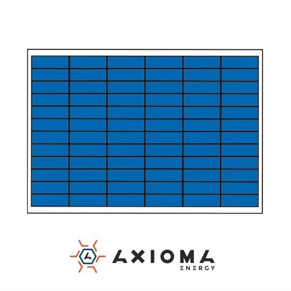 Сонячна батарея (панель) AXIOMA energy AX-100P, 100Вт, 12В
